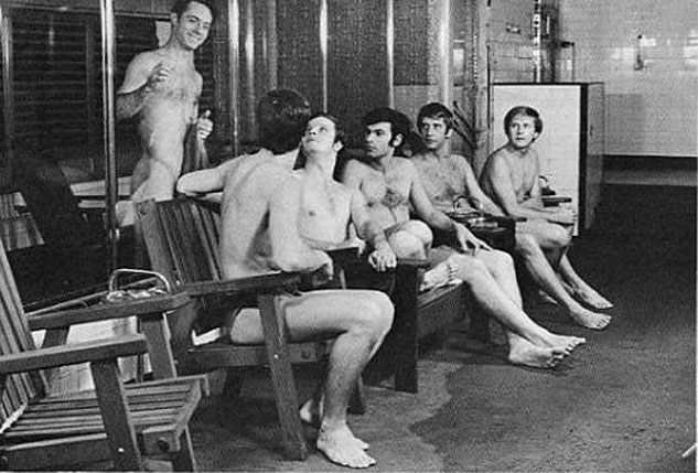 In the 1970s, bathhouse culture formally came out. No longer were the steamy rabbit warrens of rooms and moldy tile walls the hiding place of men looking for discreet connections and quick sex the only scene. The bathhouse returned to its function as a gathering place for men to connect, converse and build friendships and relationships, not unlike the ancient Greek and Roman baths as well as the Turkish hammams.