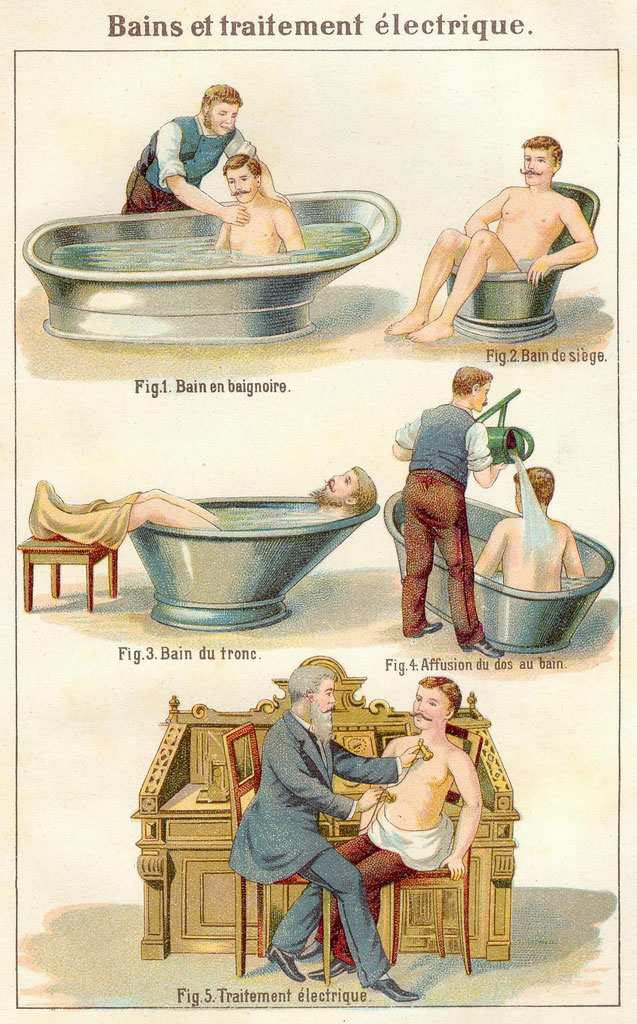 A few techniques for bathing your boyfriend. Note hipster facial hair.